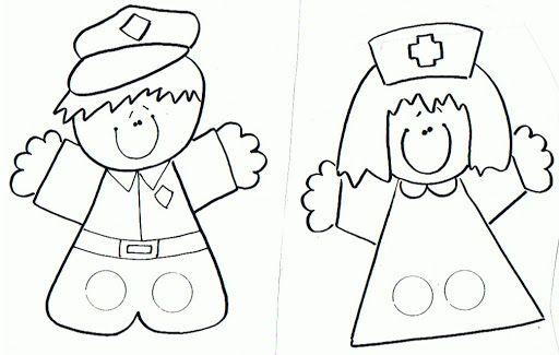 Dibujos De Marionetas Para Imprimir Y Colorear: Marionetas De Dedos Para Imprimir Y Colorear