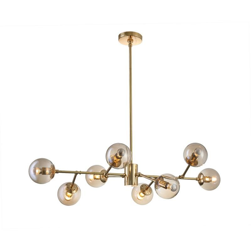 Modern Seven Globe Branching Ceiling Lamp Gold France Son Globe Chandelier Modern Ceiling Lamps Chandelier Living Room Modern