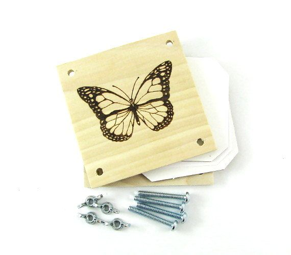 Flower Press - Wood Pyrography - Butterfly Plant Press - pinned by pin4etsy.com