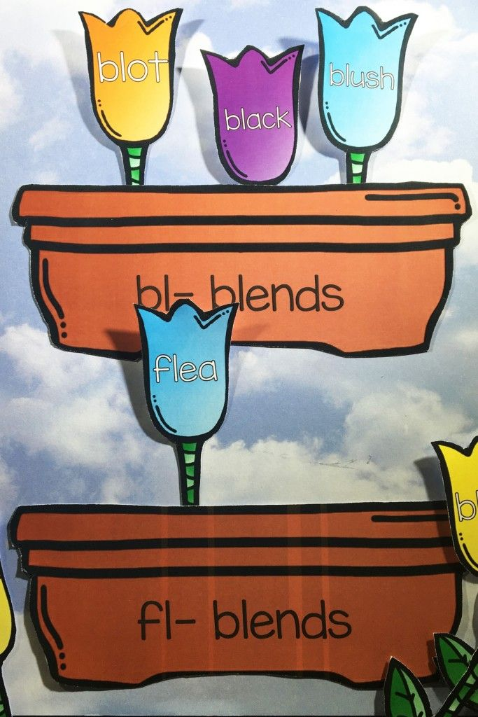 """Blooming Blends is an awesome, not mention, adorable, way for students to practice the """"L"""" blends. The beginning blends bl, fl, sl, and pl are all included."""