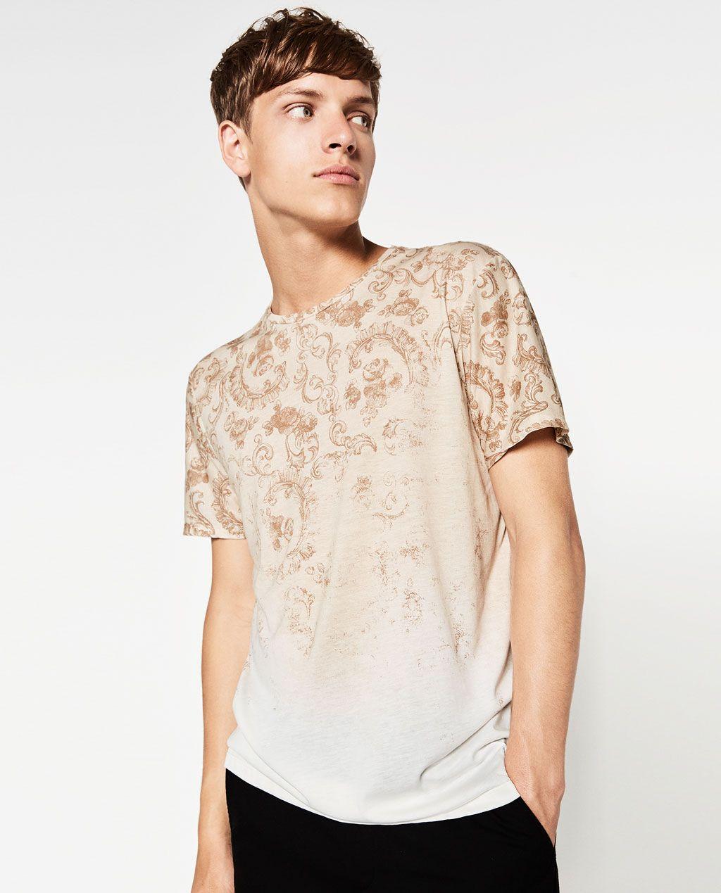 Zara Man Printed T Shirt Men In Graphic Zara Man T Shirt