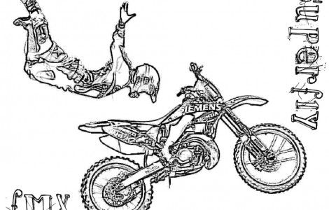 dirt bike coloring pages free coloring page