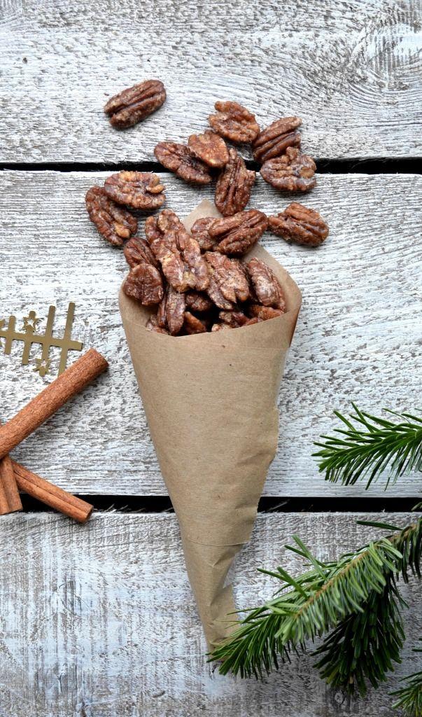 ... cinnamon maple candied pecans ...