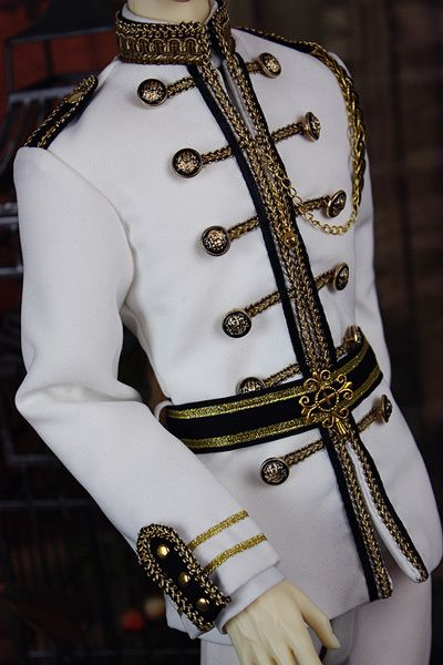 (Y288-458) military royal prince uniform costume set pants coat white blue red green versions