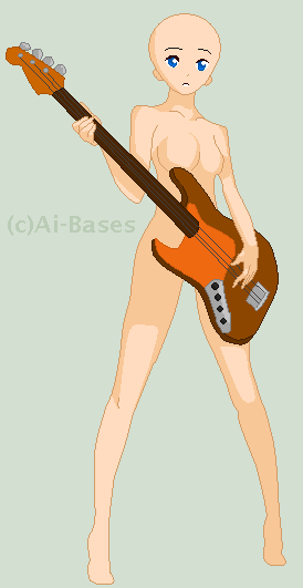 Guitar Girl Base By Ai Bases On Deviantart Body Figures