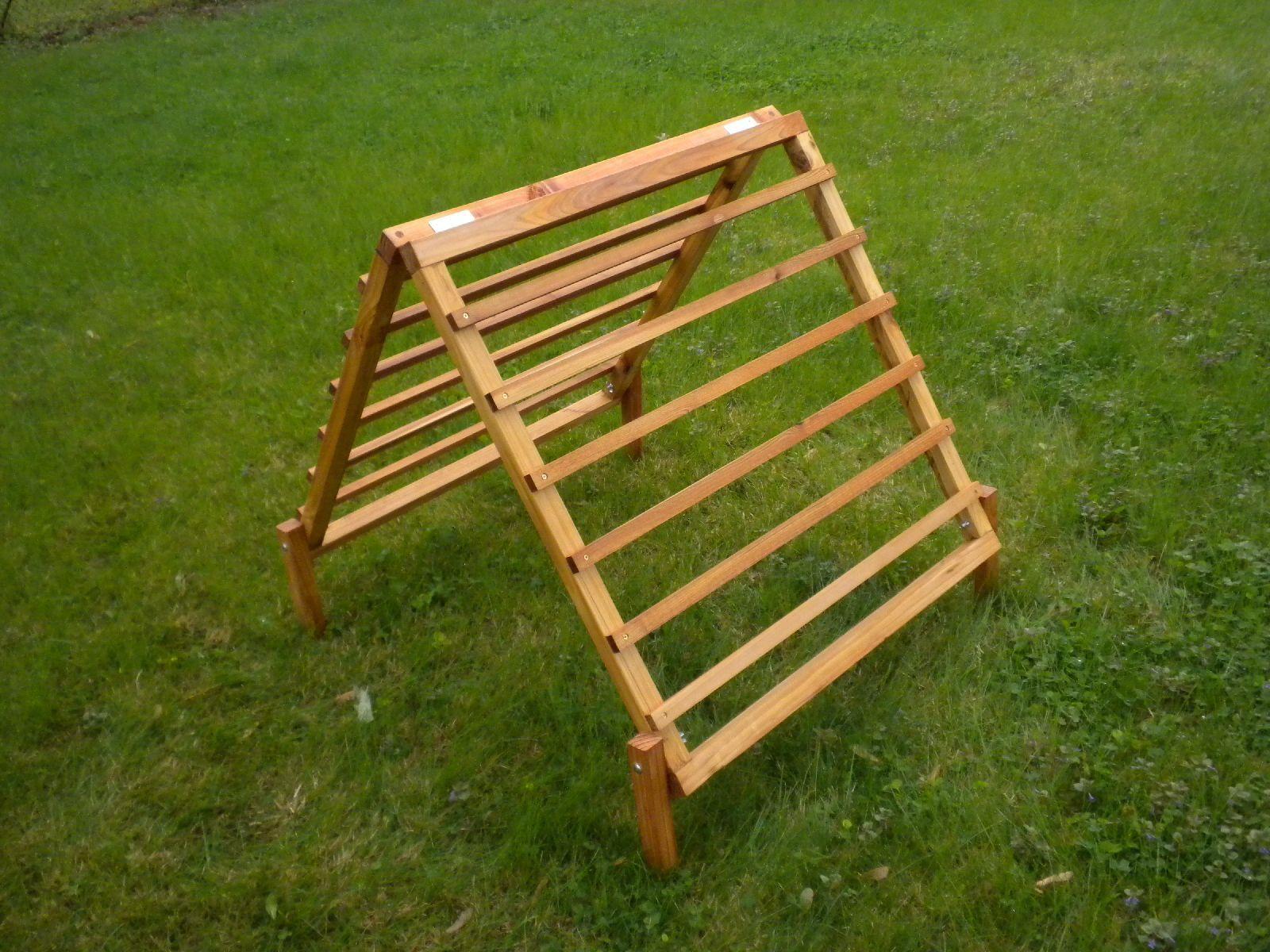 Collapsible A Frame Cedar Garden Trellis
