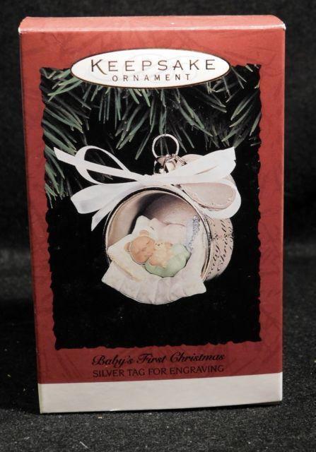 Baby S First Christmas Hallmark Keepsake Ornament 1995 Mib Never