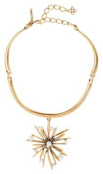 Oscar De La Renta Starburst Necklace. Get the lowest price on Oscar De La Renta Starburst Necklace and other fabulous designer clothing and accessories! Shop Tradesy now