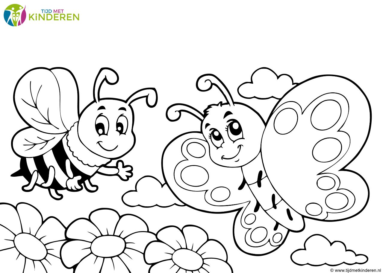 Kinder Kleurplaten Printen Kleurplaten Vlinders Prints