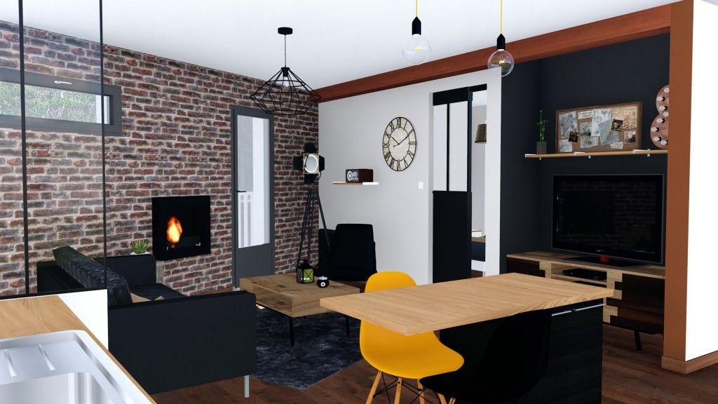un appartement industriel toulouse r agencement et. Black Bedroom Furniture Sets. Home Design Ideas