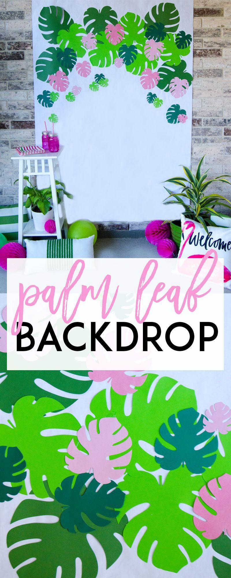 how to make a tropical backdrop by lindi haws of cricut ideas from