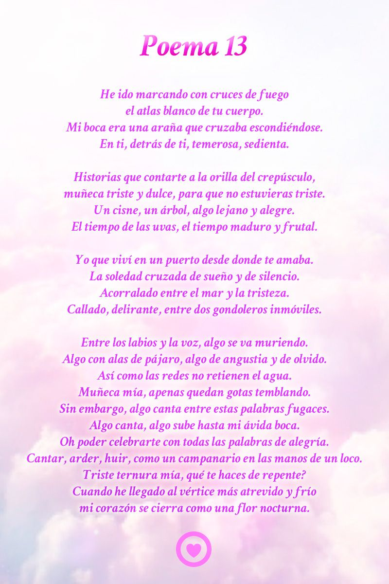 Poema 13 Pablo Neruda Poemas De Amor Poemas Poemas Cortos Para Enamorar