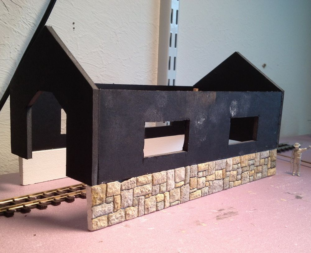 Structure base stonework and foam core building - Scratch