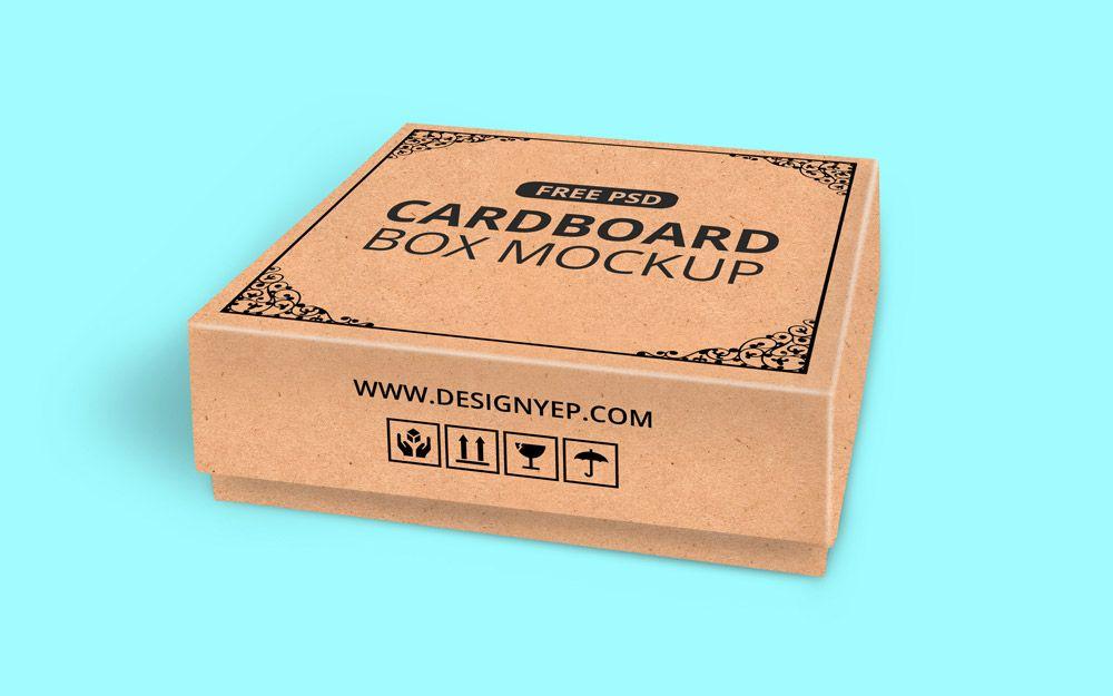 Download Free Cardboard Box Mockup Psd Creatividad Fotografia Creativa Cajas