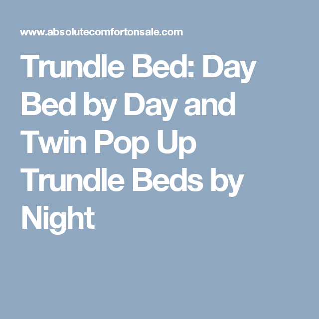 Ultimate Twinxl Twin Pop Up Trundle Bed Pop Up Trundle