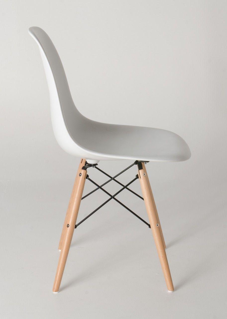 Milano Republic Furniture Replica Charles Eames Dsw Dining Chair Plastic Black Steel