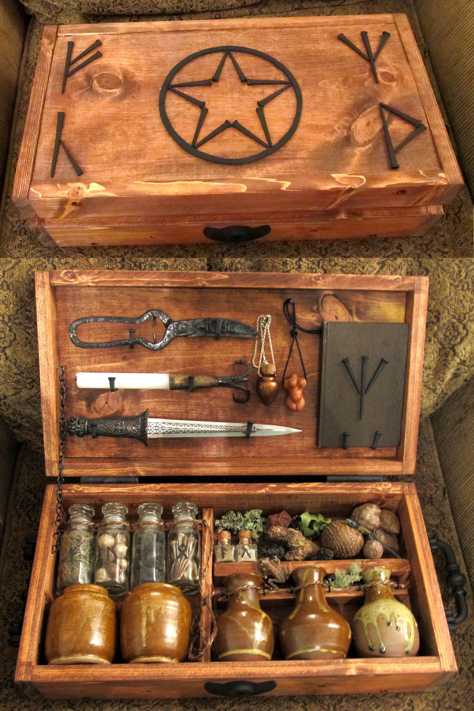 "Magickal Ritual Sacred Tools ""witches Brew Kit """