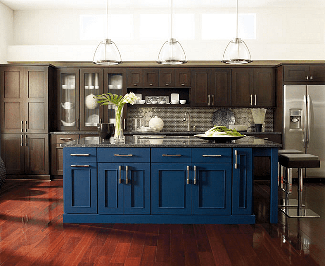 Decorating Your Bedroom With Green Blue And Purple Blue Kitchen Island Blue Kitchen Designs Dark Blue Kitchen Cabinets