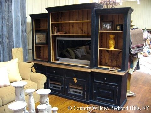 Country Willow Furniture Entertainment Center Corner Tv Stands