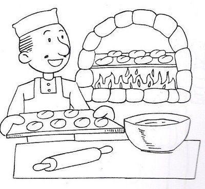 dibujos panaderia para colorear - Buscar con Google | КАРТИНКИ ДЛЯ ...