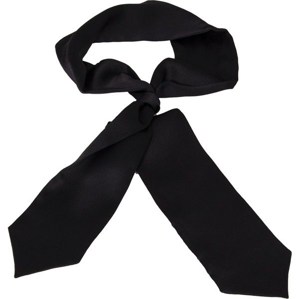 Women's Skinny Scarves Black Velvet ($60) ❤ liked on Polyvore featuring accessories and scarves