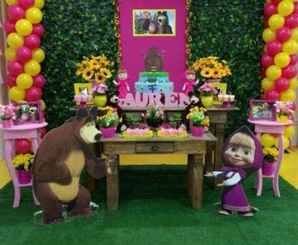 decoracion infantil masha y el oso