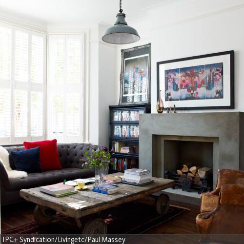 Das i-Tüpfelchen in diesem klassich eingerichteten Wohnzimmer ist - industrial chic wohnzimmer