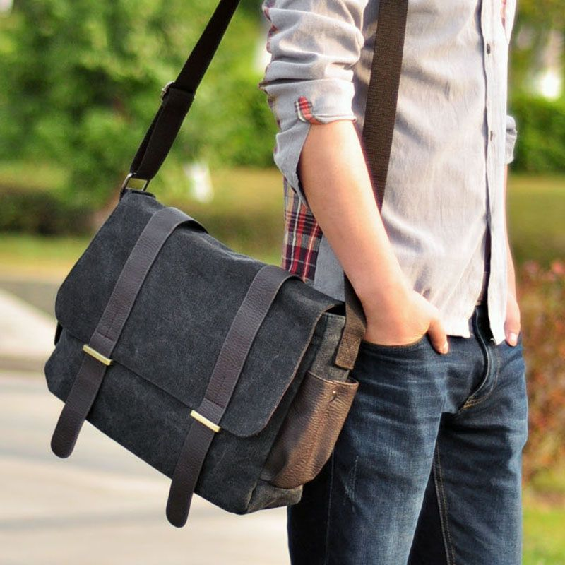 New arrival hot sale fashion men bags man canvas casual messenger ...