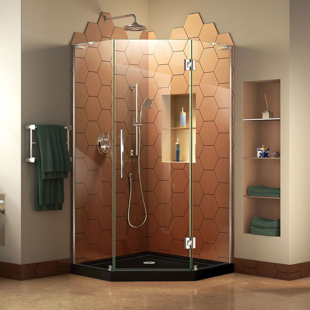 Prism Plus 42 Inch D X 42 Inch W Shower Enclosure In Chrome With