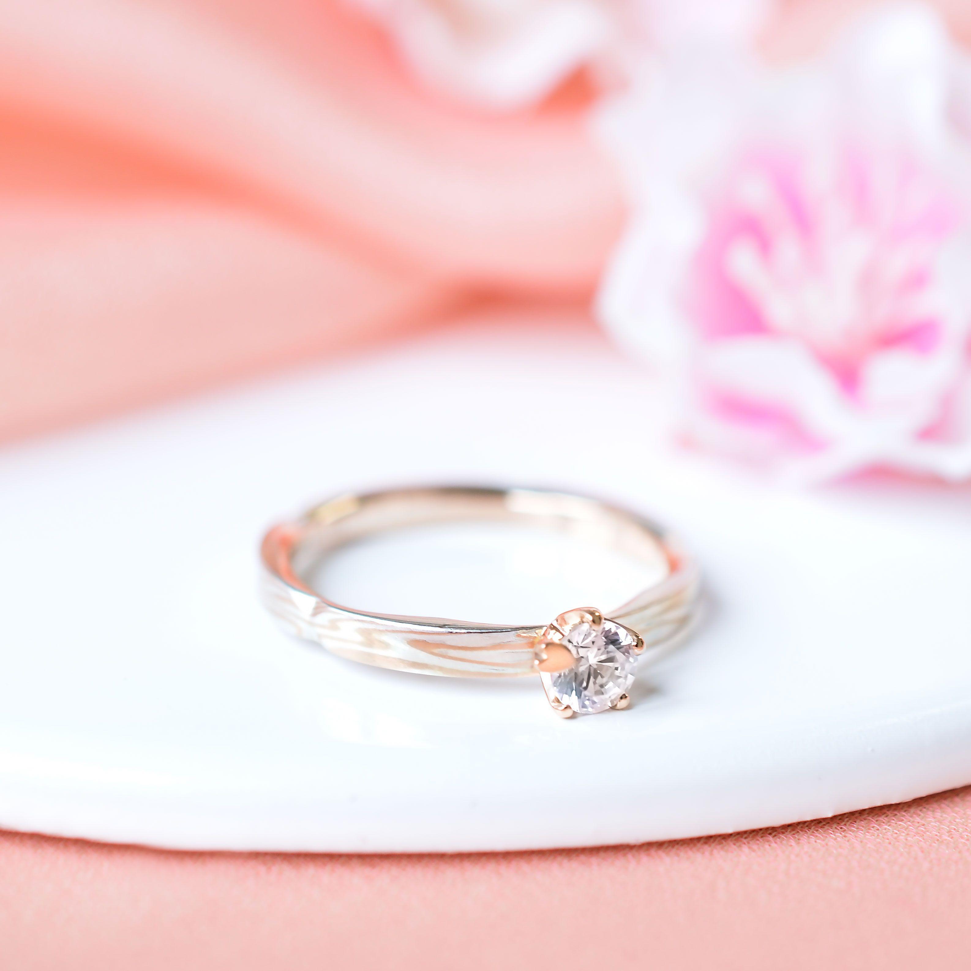 🌸木目金の婚約指輪🌸「桜心」 Mokume Gane Engagement ring ...