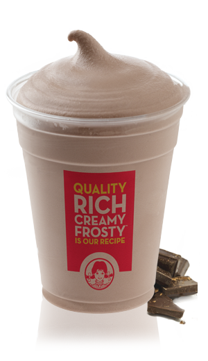 Mock Wendy's Frosty: 80 calories, 0.5 g fat. Blend:1 CUP Nonfat (skim) milk, 2 TBSP Sugar & Fat Free Chocolate Pudding Mix, 1 TSP Vanilla Extract, 1 TSP Unsweetened Cocoa, 1/2 TBSP Splenda (2-3 small packets), 2 TBL Cool-Whip Free (optional), 7 Ice Cubes