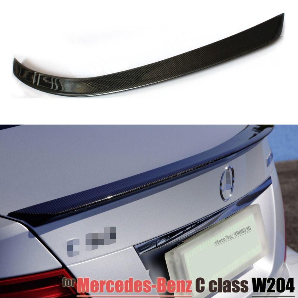 Mercedes Amg Style 07 14 W204 Carbon Fiber Trunk Spoiler Car Wing For Benz W204 C Classc180 C200 C220 C230 C250 C280 C300 C320 Mercedes Amg Mercedes Benz C180