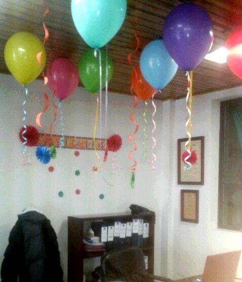 Decoracion de oficina para cumpleaños varios Pinterest Decoración de oficina, Oficinas y