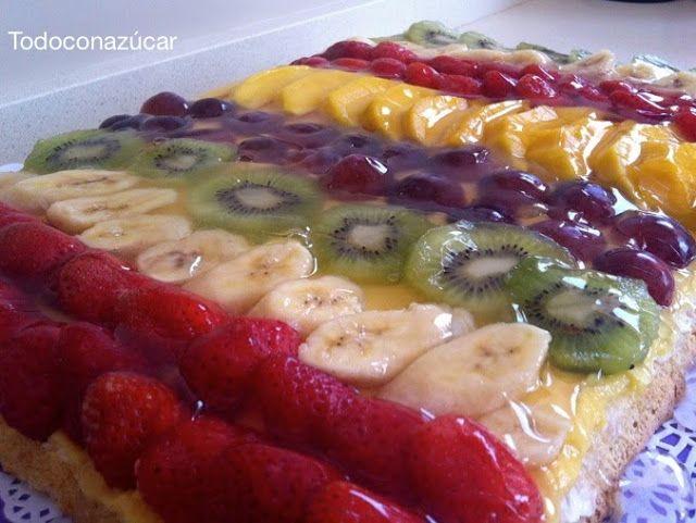 Receta De Tarta De Frutas Gelatinas Con Fruta Tartas De Frutas Recetas Tarta De Fruta