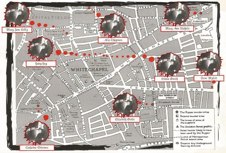 Jack The Ripper Map Jack the Ripper map | JACK THE RIPPER, WILL INCLUDE DISTURBING  Jack The Ripper Map