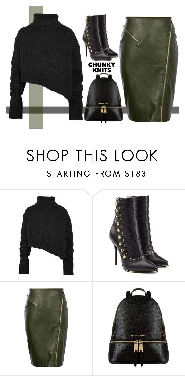 """""""Simple"""" by puljarevic ❤ liked on Polyvore featuring Ann Demeulemeester, Balmain, Michael Kors and chunkyknits"""