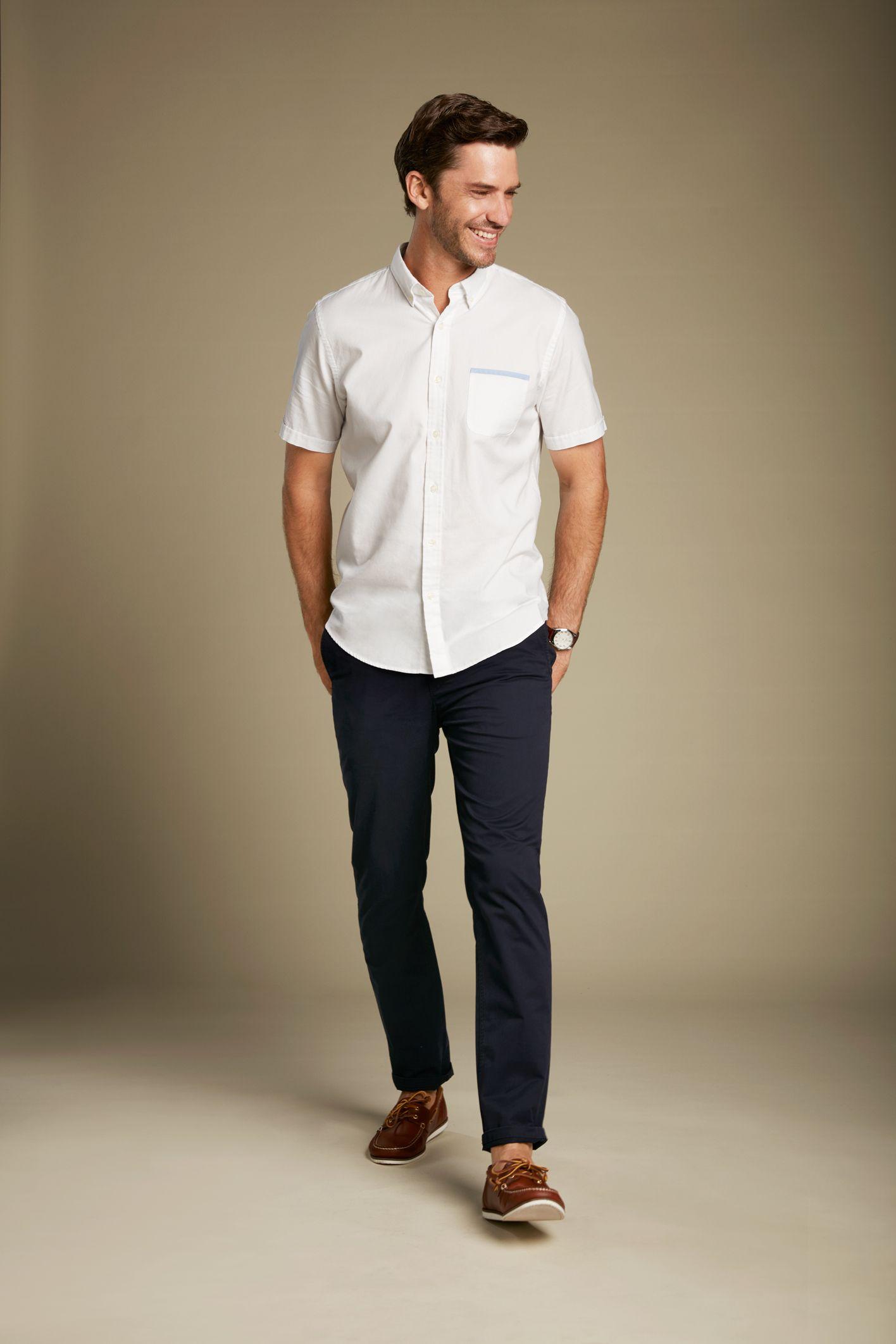 Australian Autumn Men's Fashion Short Sleeve Shirt Chinos   Short ...