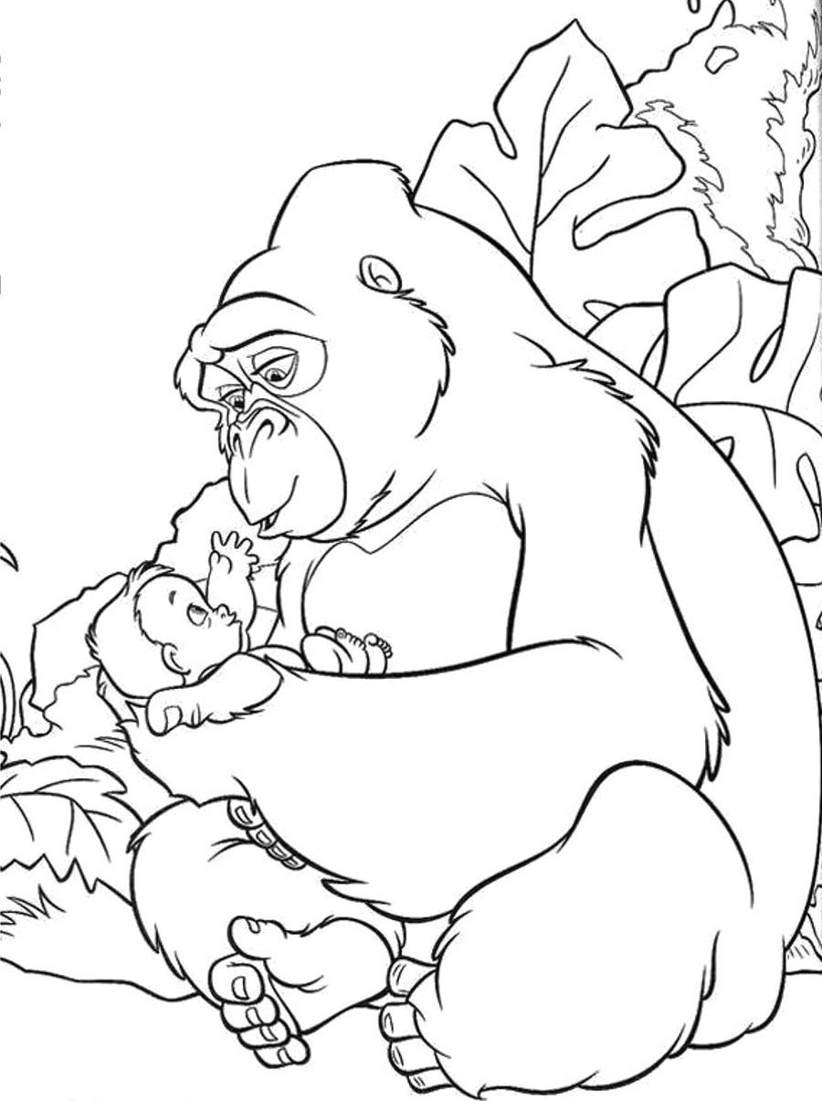 King Kong And Kids Coloring Page Animal coloring pages