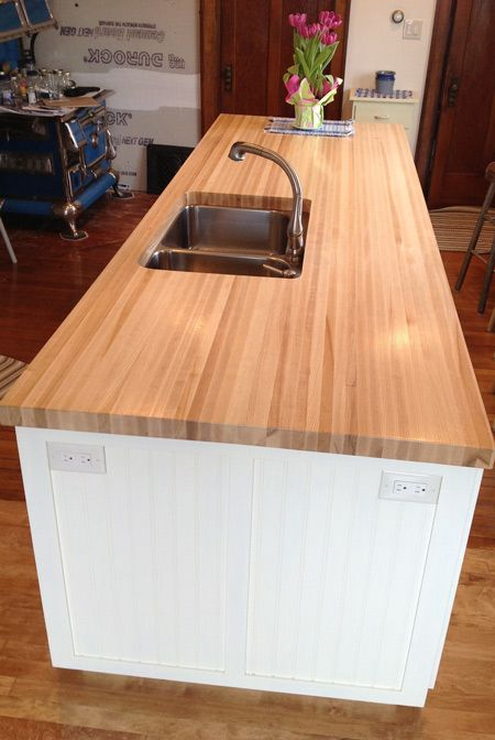 Best Finish For Butcher Block Countertop: Ash Butcher Block Countertop