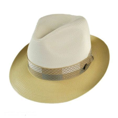 available at  VillageHatShop. available at  VillageHatShop Straw Fedora 787a80d7a75