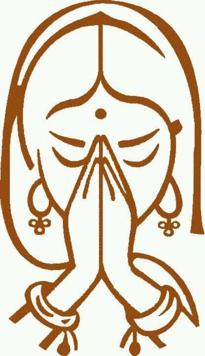 simple drawing | Namaste art, Yoga art, Namaste