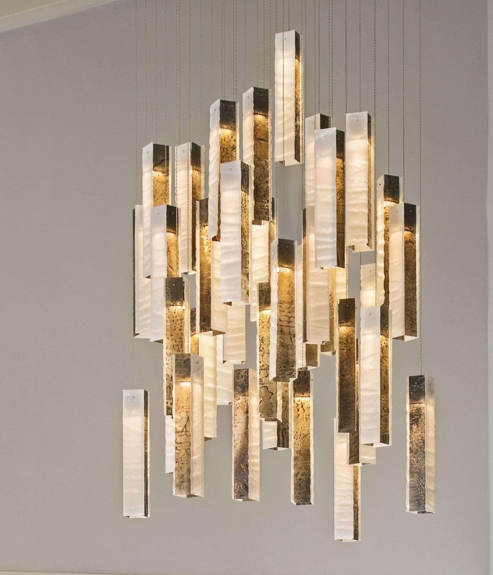 Large Modern Chandelier Lighting Art Glass Foyer Decor Large Etsy In 2021 Modern Lighting Chandeliers Modern Chandelier Chandelier Lighting