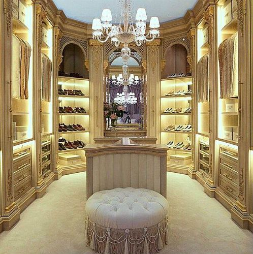 Closet In Bedroom Decor Property luxury gold walkin closet, perfect for a true master bedroom