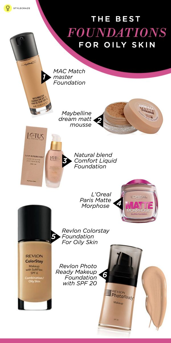 Top 10 Best Foundations For Oily Skin   Foundation