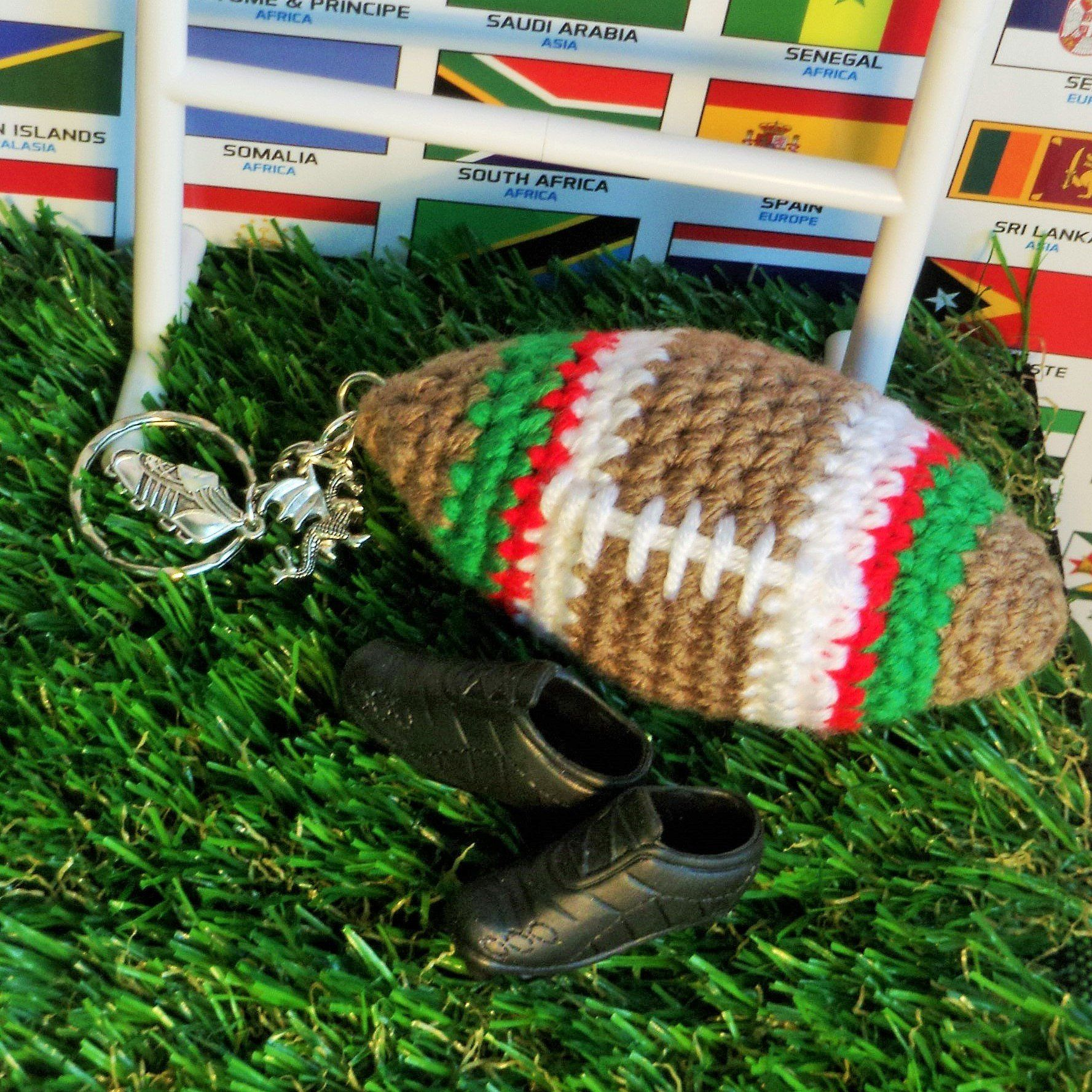 Excited To Share The Latest Addition To My Etsy Shop Rugby Keyring Six Nations Wales Crochet Rugby Ba Rugby Gifts Valentines Gifts For Him Party Gift Bags