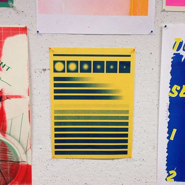drawdownbooks:  Great piece seen in the Riso Room at the Yale School of Art, 2014
