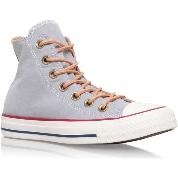 Converse Grey Peached Canvas High Top Chuck Taylor Trainers