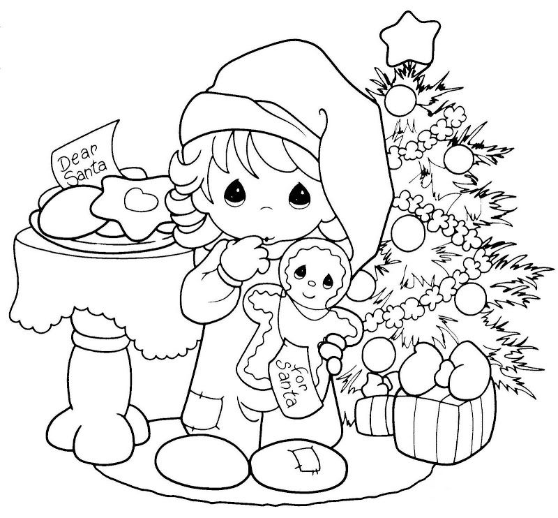 Pinto Dibujos: Precious Moments esperando a Santa Claus para ...