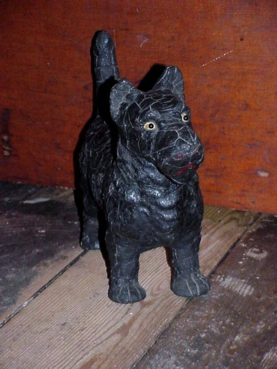 Antique Victorian Scottie Dog Doorstop Figure With by Jodi554, $100.00