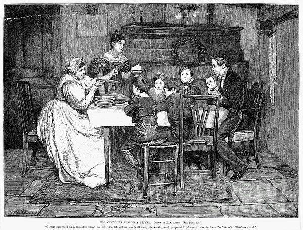 Primitive A Christmas Carol Scrooge and Marley Charles Dickens Print 8x10